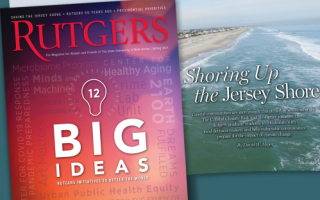 """Image of """"Big Ideas"""" cover of Rutgers Magazine"""