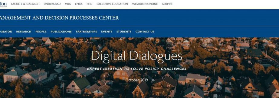 Wharton - Digital Dialogues screen shot cropped