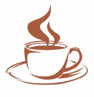 image of steaming coffee cup
